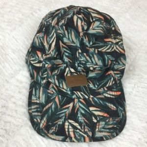 Old Navy Tropical Leaf Baseball Cap Hat Green OS